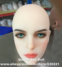 Top quality #51 cyberskin sex doll head for silicone adult dolls and real human dolls, oral sex prodcuts