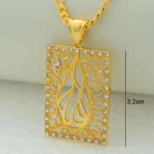 High-quality Islamic pendant necklace allah items arabic jewelry women Girl gold color middle east muslims