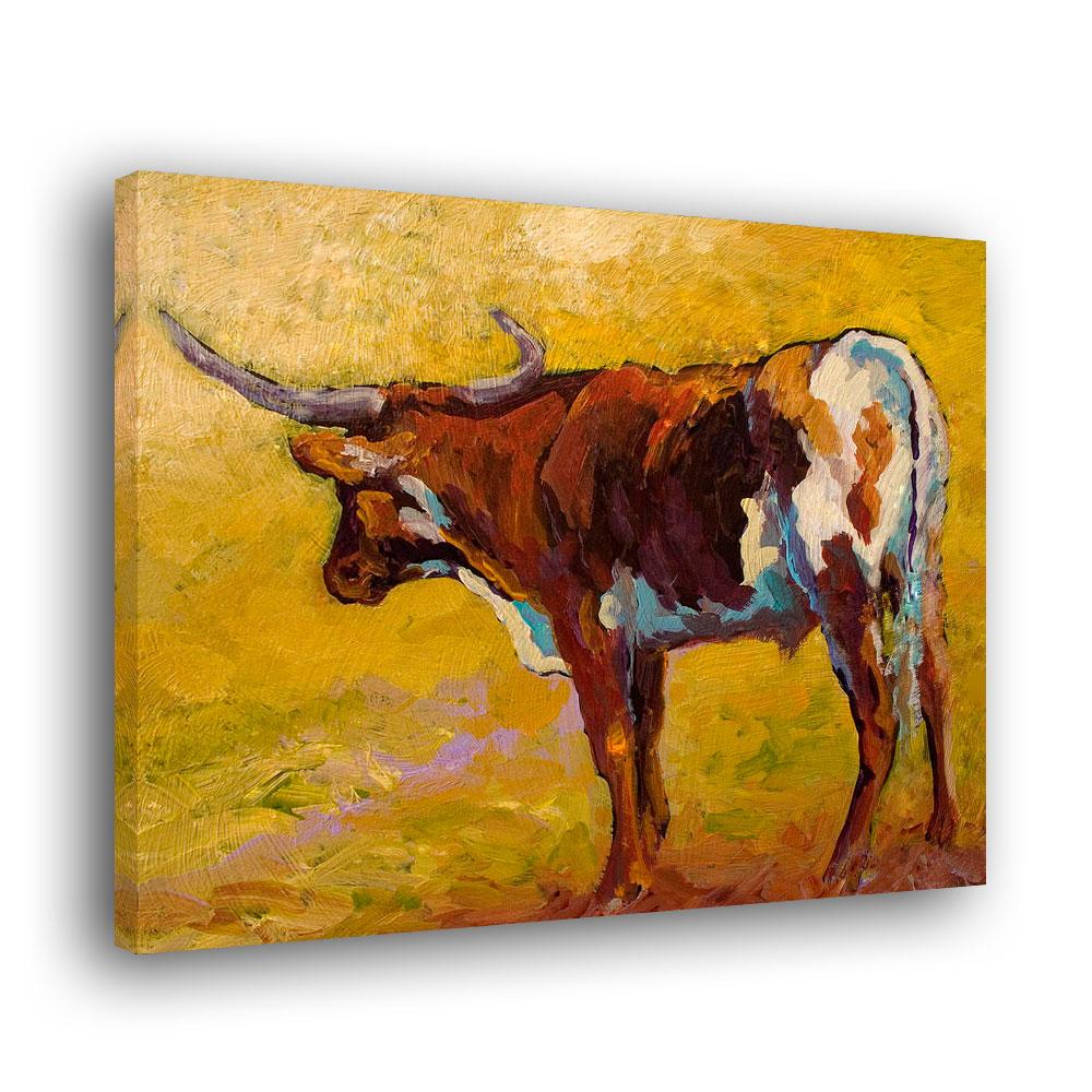 Living Room Home Decor Animal Cattle Texas Longhorn Skull Giclee ...