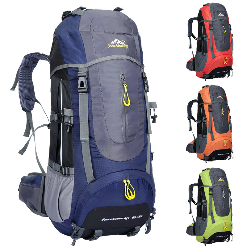 Mountaineering Backpack Outdoor Hiking Bag 65+5L Large Capacity Camping Travel Waterproof Pack e0902 45l large capacity outdoor mountaineering bag multi function waterproof nylon bracket hiking travel backpack