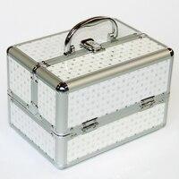 Cheap Perfect Professional Cosmetic Case Portable Women Makeup Case Korean Style Jewelery Storage Box Caixa Organizadora