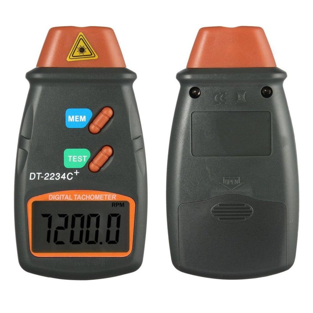 2018 de alta calidad láser Digital tacómetro RPM medidor sin contacto Motor torno velocidad revolución giro 2,5 a 999,9 RPM caliente