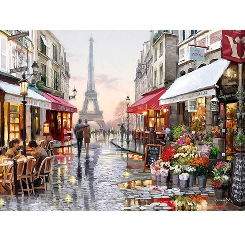 3D diy diamant peinture Point De Croix paysage doux amant kits ville rue Artisanat Diamant Broderie mosaïque scenry décor à la maison