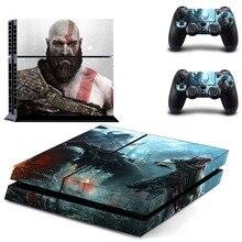 Oyun God of War PS4 cilt Sticker çıkartma vinil Sony Playstation 4 konsolu ve 2 kontrolörleri için PS4 cilt Sticker
