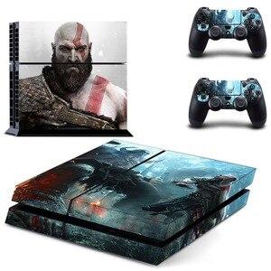 Image 1 - משחק אלוהים של מלחמת PS4 עור מדבקת מדבקות ויניל עבור Sony פלייסטיישן 4 קונסולת 2 בקרי PS4 מדבקת עור