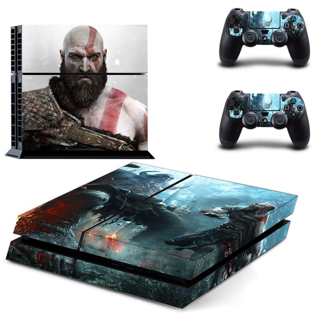 משחק אלוהים של מלחמת PS4 עור מדבקת מדבקות ויניל עבור Sony פלייסטיישן 4 קונסולת 2 בקרי PS4 מדבקת עור