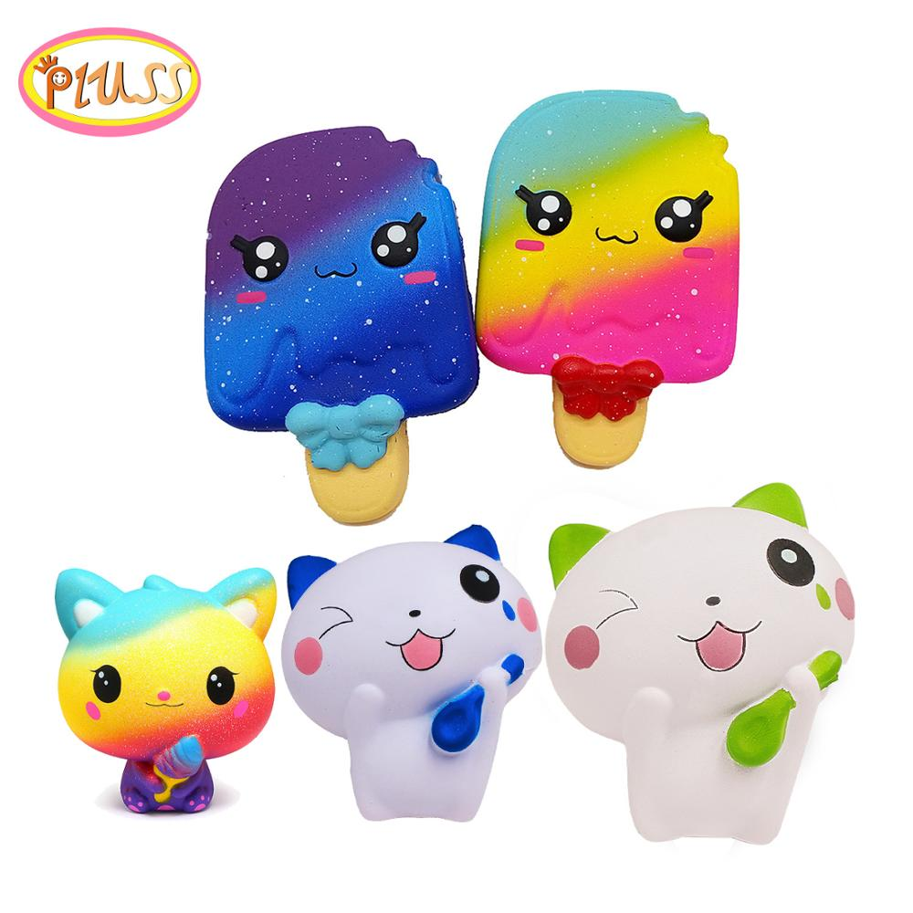Cute Jumbo Squishy Kawaii Ice Cream Food Scented Unicorn Cake Squishies Slow Rising Squeeze  Stress Relief Toy Gift For Kids