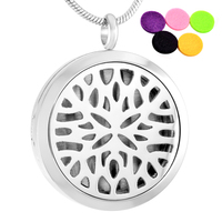 CMP0024 5pcs/lot 30mm magnetic diffuser pendant Essential Oil Diffuser Pendant Stainless Steel Necklace Jewelry With Free Pads