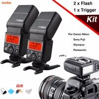 2 шт. Godox TT350 мини Вспышка Speedlite и X1T вспышка триггер Беспроводной ttl передатчик для Canon Nikon sony Olympus/Panasonic Fuji