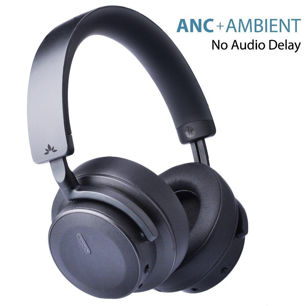 Hallo-leistung ANC kopfhörer, Umgebungs sound funktion, aptX niedrigen latenz, sensor/touch control, aktive Noise Cancelling Headsets