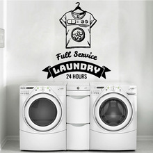Cartoon Style Shirt Laundry Family Wall Stickers For Room Decals Pvc Mural Commercial Sticker Wallpaper