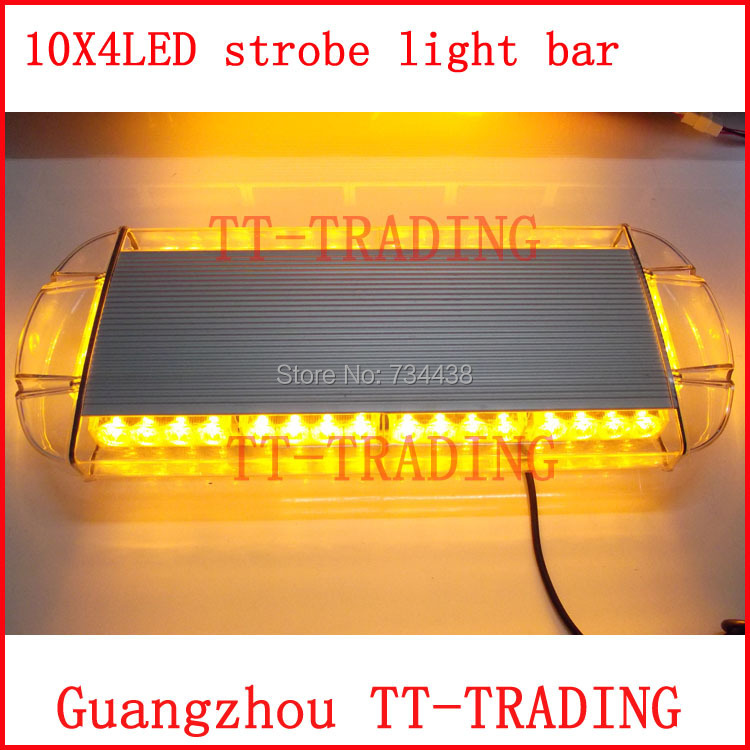 Police strobe light 40LED strobe lights Emergency Warning lights led strobe beacon with magnet RED BLUE WHITE AMBER DC12V ltd 5111 dc12v flash car strobe warning light fireman emergency strobe light vehicle light with magnet bottom