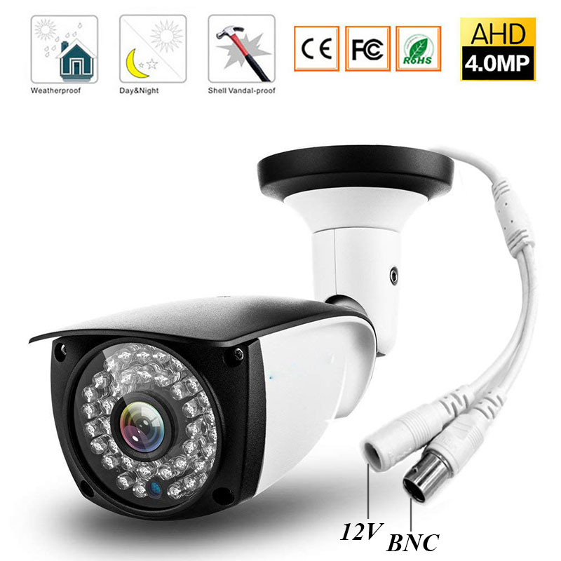 cctv HD 4MP AHD Security Camera Outdoor Waterproof infrared leds Metal Bullet Surveillance night vision 4MP CCTV Camera smar super hd 3mp 4mp ahd security camera ahdh outdoor waterproof cctv bullet camera home video surveillance 36 ir leds camera
