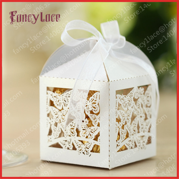 Wedding Gift Boxes For Sale : Sale 100PCS Laser Cutting Butterfly Candy Box Gift Box Chocolate Box ...