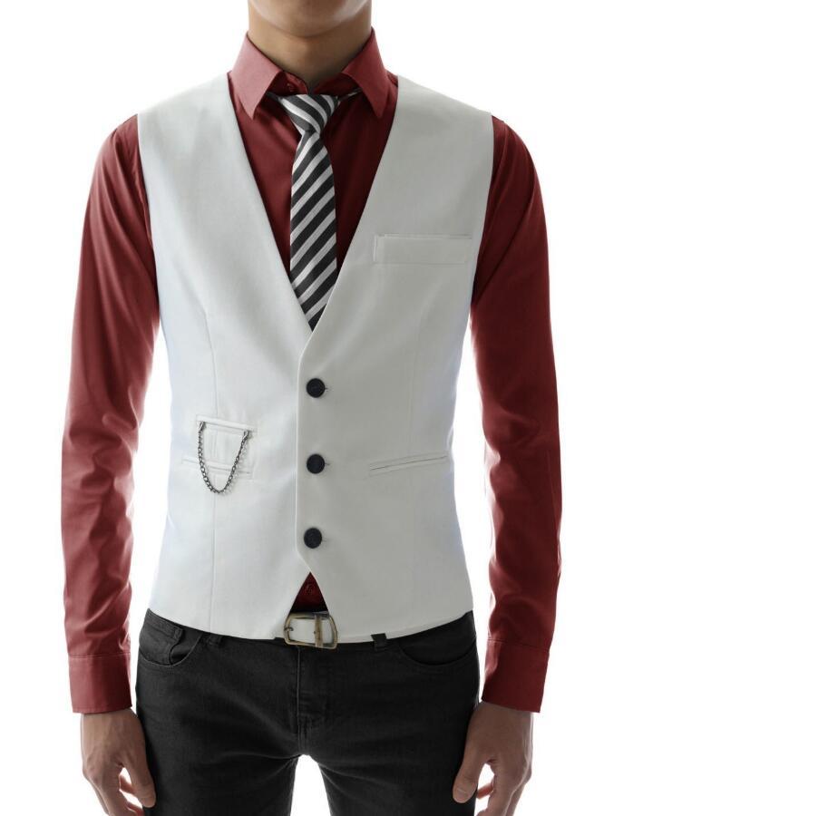 Mode Qualité Veste Fit Costume Hommes Haute Personnalisé D'affaires Gilet Hot Formelle Décontractée Slim De dwqfd1