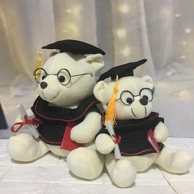 1pc 18-28cm Lovely Dr. Bear Plush Toys Staffed Cute Teddy Bear Animal Doll Toys for Children Kids Kawaii Cute Graduation Gift