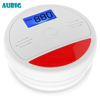 Aubig LCD CO Sensor Carbon Alarm Security Protection Wireless Fire Alarm Sensor Monoxide Poisoning Warning Alarm Detector