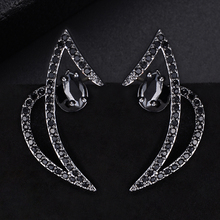 SISCATHY 2019 Top Quality New Fashion Earrings Unique Design Exquisite Silver Stud Full CZ Best Women Girl Friend Gift