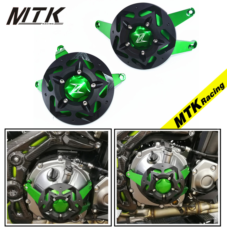 где купить MTKRACING Green Z900 For kawasaki z 900 2017 Parts Accessories Moto Fram Slider Engine Guard Case Saver Cover Protection дешево