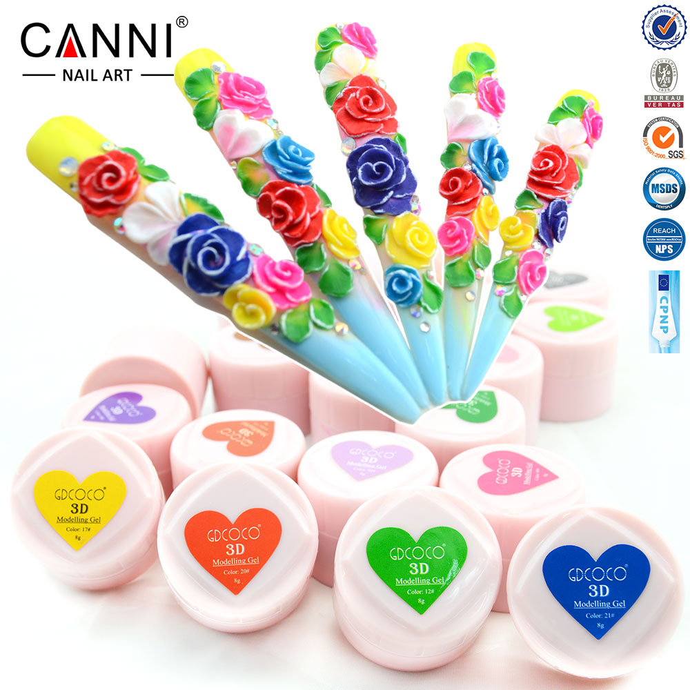 Canni Nail Art Design 3d Uv Led Color Uv Gel Tips Diy Nail Beauty Plasticine Sculpture Modeling