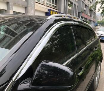 ABS Chrome plastic Window Visor Vent Shades Sun Rain Guard car accessories for Cadillac SRX 2010 2011 2012 2013-2015 car styling