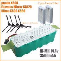 7pcs NI MH 14 4V 3500mAh Panda X500 Battery High Quality Battery For Ecovacs Mirror CR120
