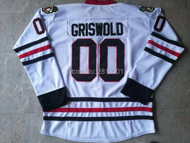 Stitched Clark Griswold  00 Hockey Jerseys Mens Clark Griswold Ice Hockey  Jersey S-3XL Free Shipping 1462be00ae5
