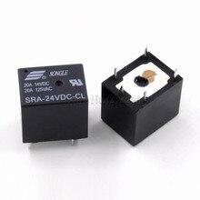 10 шт. 24 В 20A DC мощность реле SRA-24VDC-CL 5Pin PCB тип ЧЕРНЫЙ автомобильное реле