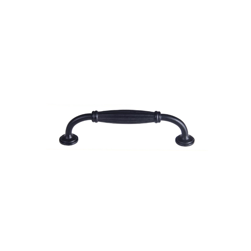 Modern black furniture 96mm / 128mm cabinet drawer door handle hardware accessories