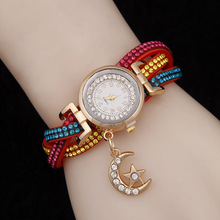 New Fashion 2016 Quartz Watch Women rhinestone Bracelet Wrist Watches For Ladies Dress Watches 8 color optional montre femme ibso hit color watches for female fashion cut glass design women quartz watch ladies magnet buckle wrist watches montre femme