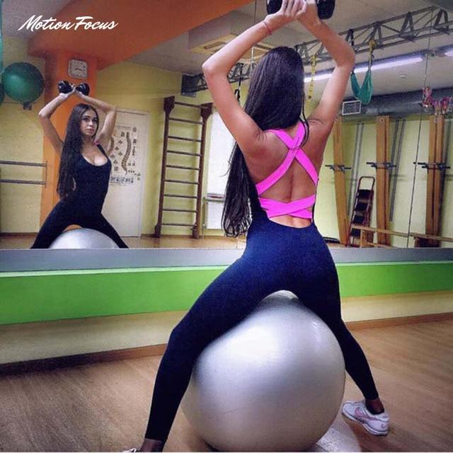 2016 one piece yoga костюм тренажерный зал фитнес комплект одежды для женщин Работает плотно комбинезоны спортивные yoga наборы