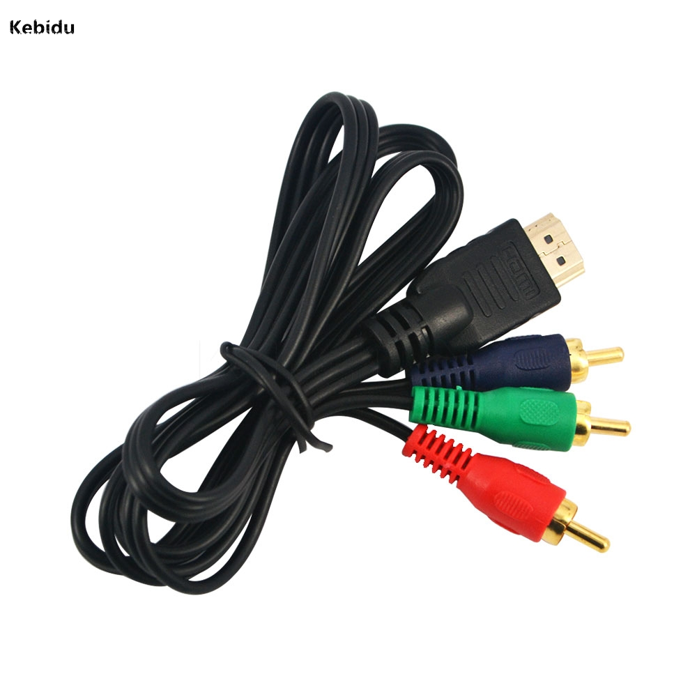 Back To Search Resultshome 2019 New Style Pz 10pcs 3 Rca Adapter 3ft 1m Audio For Hdtv Vga Av Cord 1080p Hdmi To 3rca Video Component Convert Cable