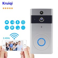 купить Kruiqi Video Doorbell Camera Wireless 720P Intercom Doorbell with IR Night Vision Move Detection Two-Way Audio Camera Doorbell в интернет-магазине