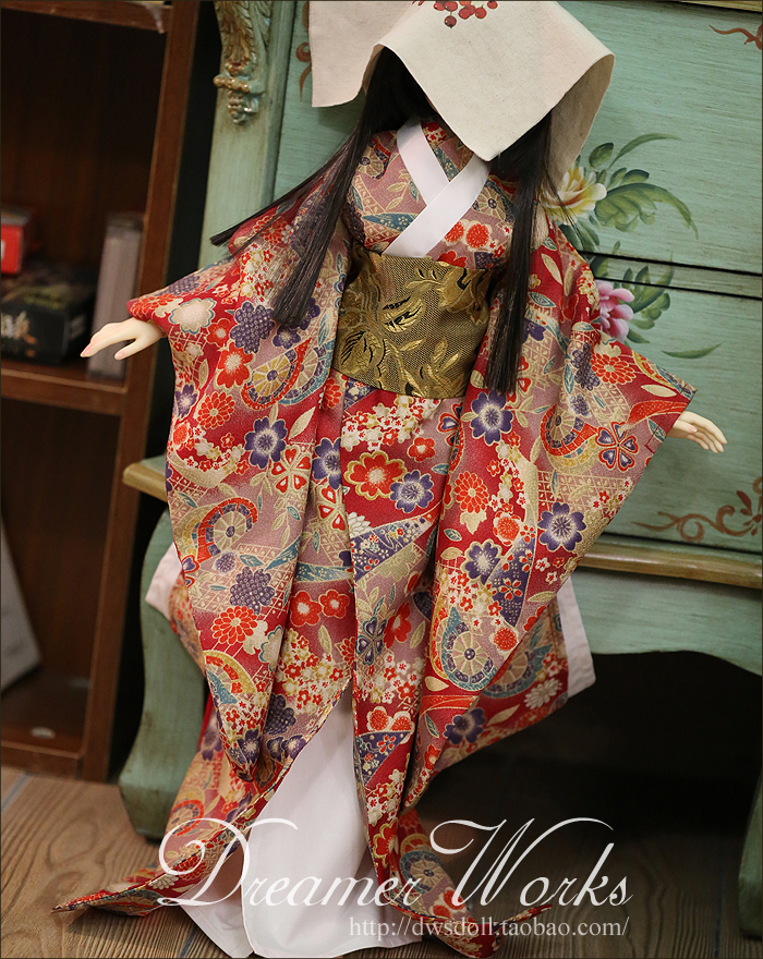 1/4 scale BJD doll clothing Japanese kimono for BJD/SD accessory.Not included doll,shoes,wig and other 17C3352