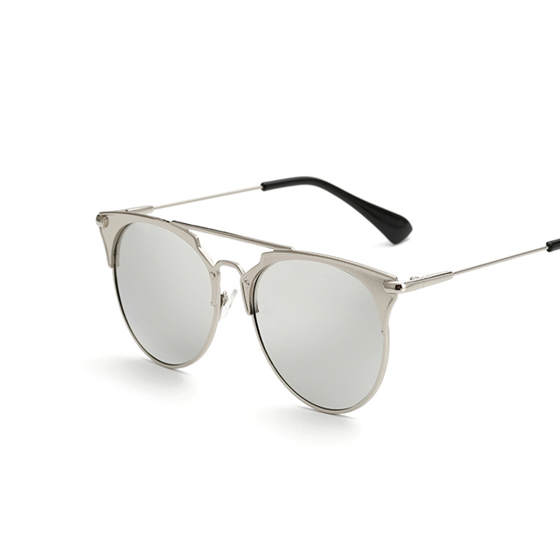 Retro Round Cat Eye Sunglasses Men Women Designer Eyewear Metal Frame UV400 Sun Glasses Female Oculos De Sol Lunette De Soleil 3