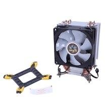 Lanshuo чистый Медь 4 тепловая труба Термальность процессорный кулер для Lga/1150/1151/1155/1156/1366 Intel Многоплатформенный радиатор ЦПУ