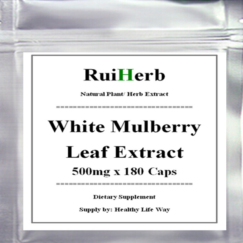 White Mulberry Leaf Extract Capsule 500mg x 180pcs Blood Sugar Control & Weight Loss Supplement Increases Energy health supplement moringa oleifera leaf extract tablets antioxidant energy booster