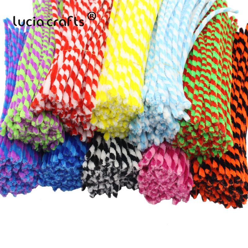 Lucia Crafts 6mm*30cm 25pcs/lot Chenille Stems Pipe Cleaners DIY Handicraft Materials Creative Craft L0103