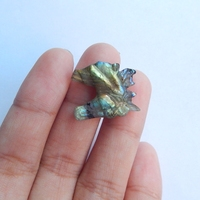 Support For Custom Labradorite Carved Horse Head Cabochon Semi Gemstone Wholesale Jewelry Gift Gem Customized 21x18x6mm