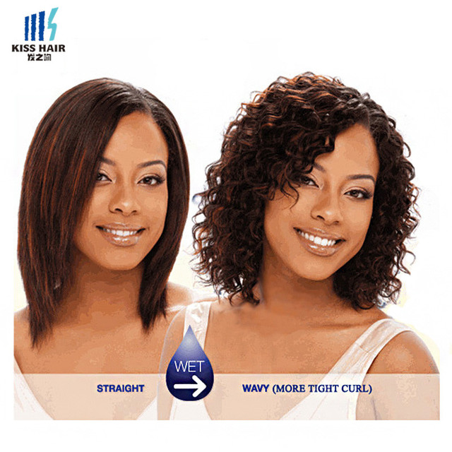 Kiss Hair Wet And Wavy Virgin Brazilian Weave Short Bob Style All In One