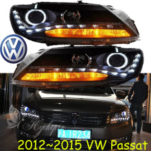 Passat headlight,2012~2015(Fit for LHD,RHD need add 200USD),Free ship!Passat fog light,2ps/se+2pcs Aozoom Ballast,Passat