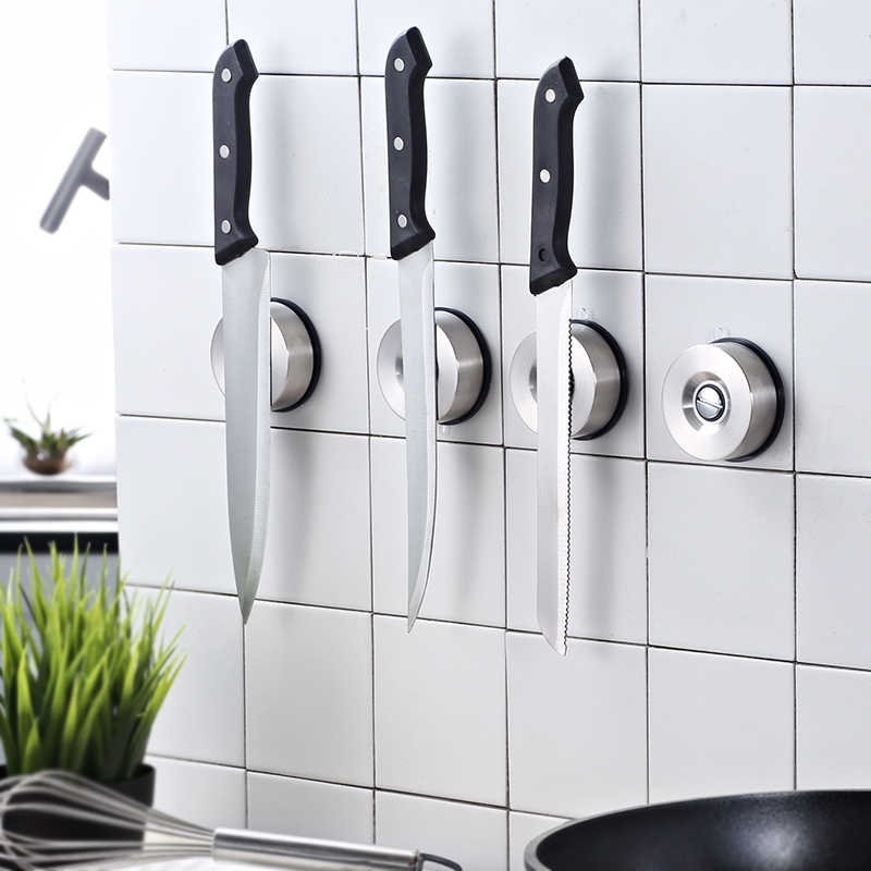 TISION Strong Suction Magnetic Knife Holder For Kitchen Knife Holder Stan Strip Rack Stand For Key Wall Mount Vacuum Sucker