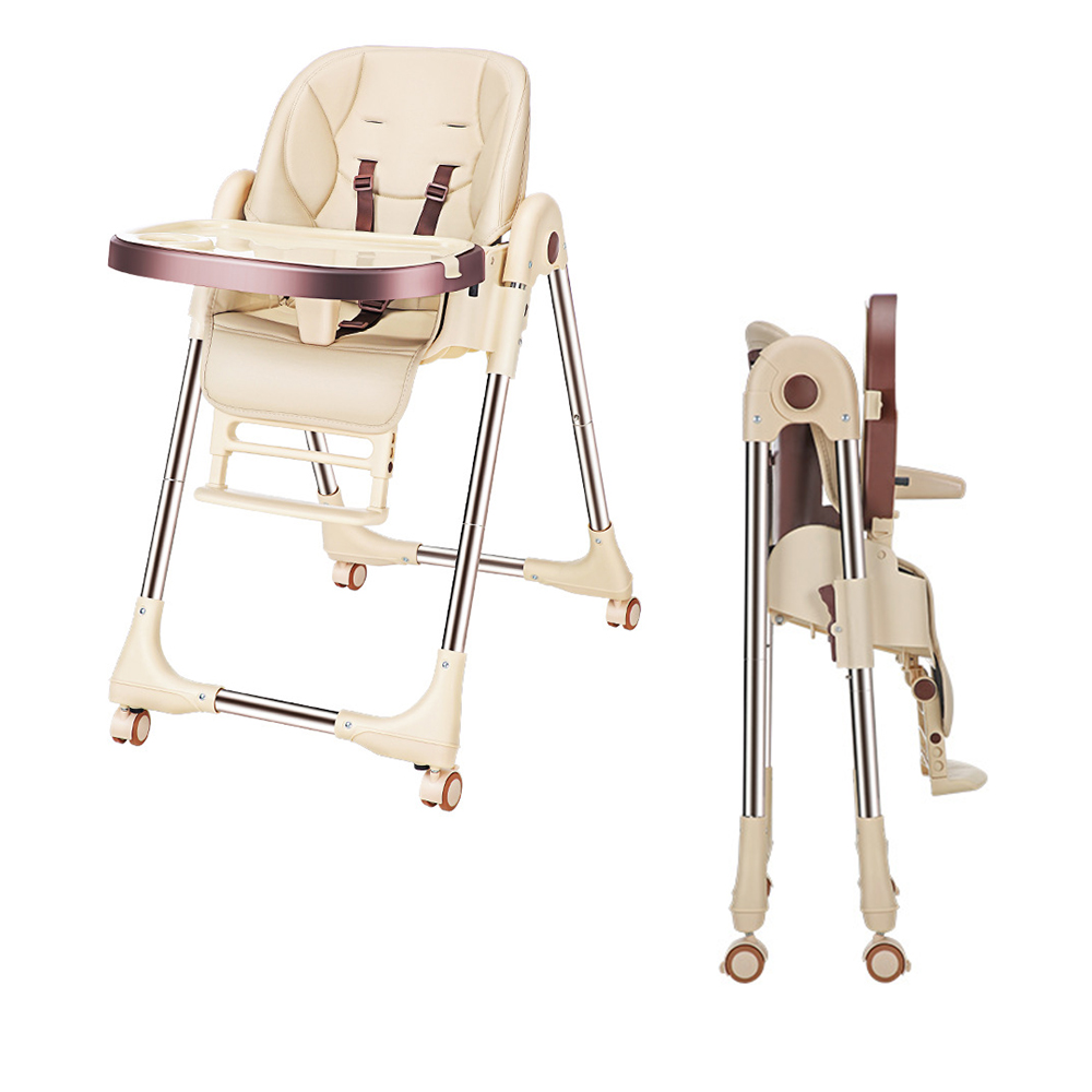 Adjustable High Chair For Feeding Folding Baby Chair Foldable Baby Seat Breastfeeding Booster Seat Children Eating Dining Table
