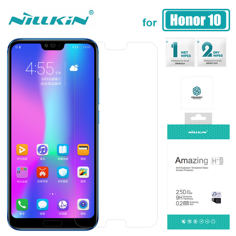 Huawei Honor 10 Nillkin 9H Amazing H + Pro Tempered Glass Huawei Honor 10 ეკრანის დამცავი Huawei Honor 10 9 8 Nilkin Glass