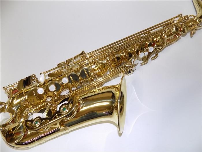 Eb-Alto-Saxophon mit ABS-Gehäuse Körperlackierung aus Messing Professionelle Musikinstrumente