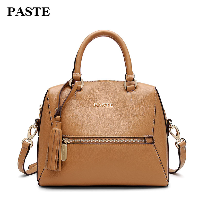 PASTE Genuine Leather Women Bag New Shell Bag Soft Fashion First Layer Of Cowhide Shoulder Bag Messenger Bag 7P1115 women shoulder bag cossbody handbag genuine first layer of cow leather 2017 korean diamond lattice chain women messenger bag