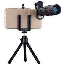 Mini desktop Tripod with Telefon Camera Telephoto Lens universal 18X Telescope Zoom telescope Phone Lens for iPhone HUAWEI