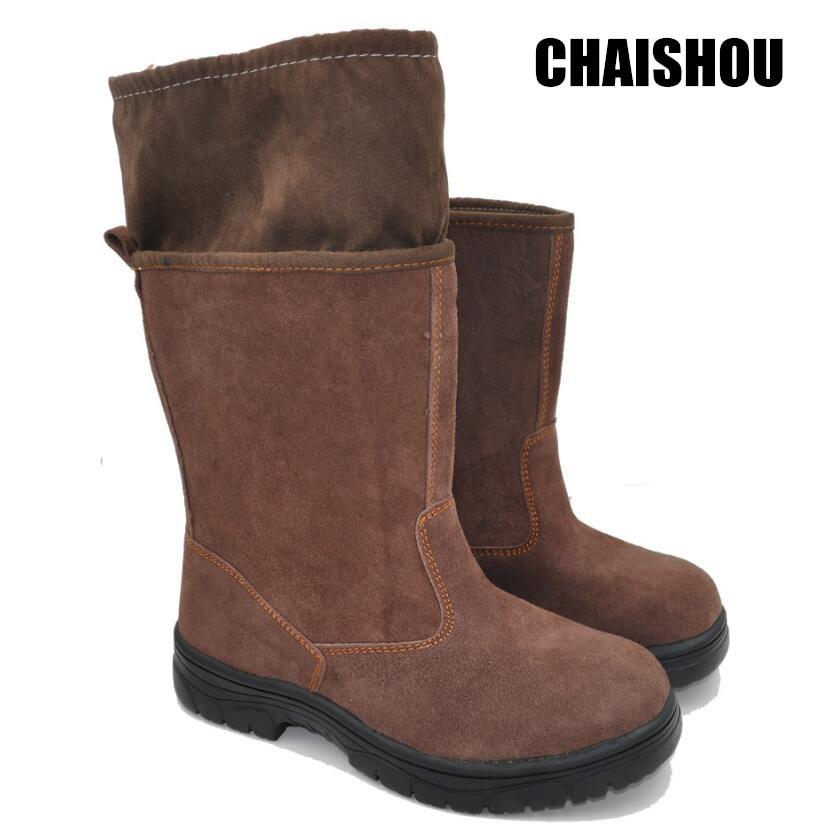 Herrenschuhe Arbeits & Sicherheitsschuhe GroßZüGig Chaishou Schuhe Männer Aus Echtem Leder Arbeit Stiefel Cs-105