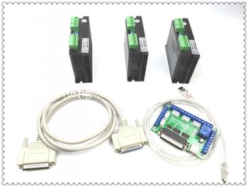 ЧПУ Маршрутизатор 3 оси комплект, 2DM542 3 оси 4.5A драйвер шаговый двигатель контроллер Sub заменить 2M542 комплект для mach3 5 оси breakout доска
