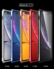 For iPhone XS Max Case XR Clear Tempered Glass Alloy Metal Frame Bumper Protective Hard Back Cover For iPhone XS XR Coque Fundas elegant rhinestone alluminum alloy bumper frame for iphone 5 golden
